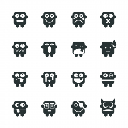 Silhouette Emoticons | Set 1
