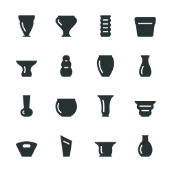 Pot and Vase Silhouette Icons | Set 1