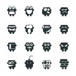 Silhouette Emoticons | Set 2