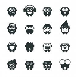 Silhouette Emoticons | Set 3