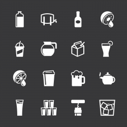 Drink Icons Set 3 - White Series