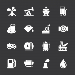 Fuel Industry Icons - White Series