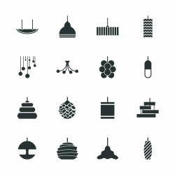 Lamp Design Silhouette Icons