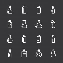 Bottle Icons Set 1 - White Series