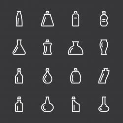 Bottle Icons Set 2 - White Series