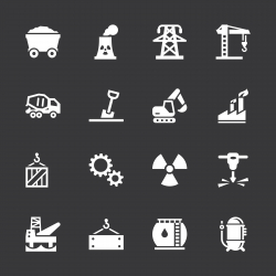 Heavy Industry Icons - White Series