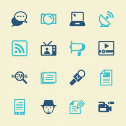 Reporter Icons - Color Series