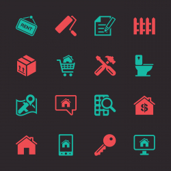 Real Estate Icons Set 2 - Color Series