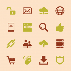 Internet and web Icons Set 2 - Color Series