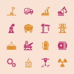 Heavy Industry Icons - Color Series