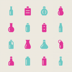 Bottles Icons Set 1 - Color Series