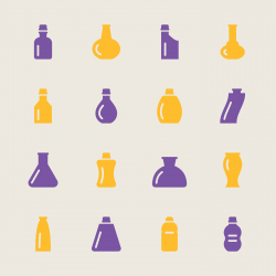 Bottles Icons Set 2 - Color Series