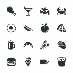 Food and Drink Silhouette Icons | Set 1
