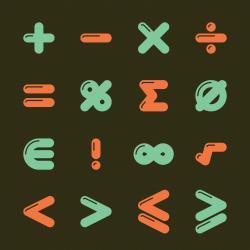 Mathematics Icons - Color Series