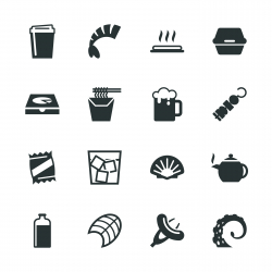 Food and Drink Silhouette Icons | Set 4