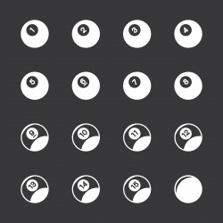 Pool Balls Icons - White Series