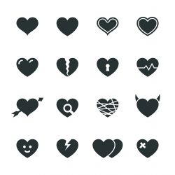 Heart Silhouette Icons