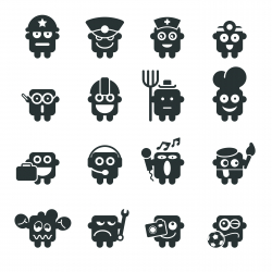 Silhouette Emoticons | Set 4